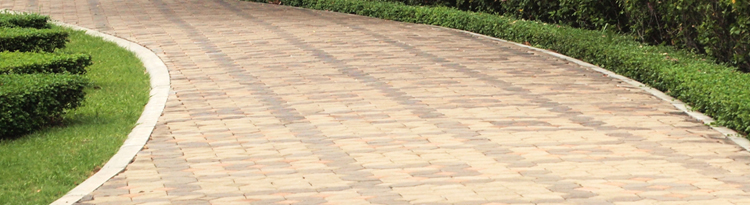 Interlocking paver walkway