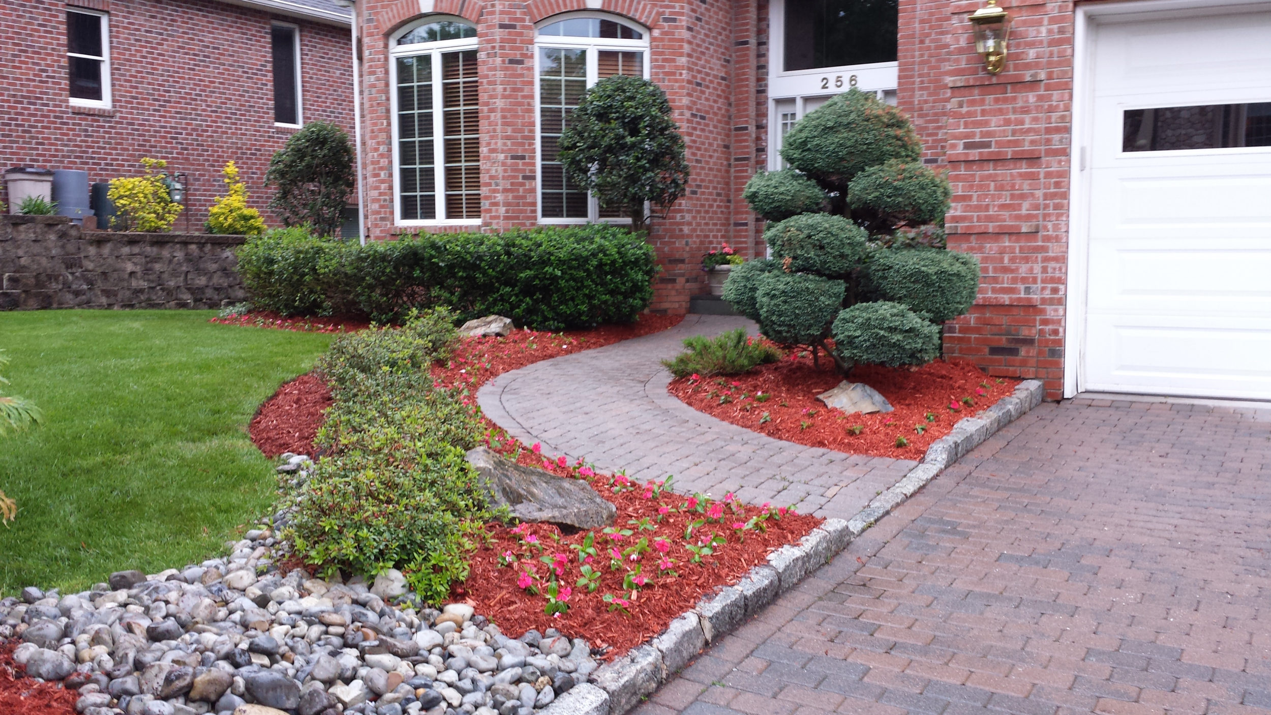 Hardsacping job in Bergen county by Onorato Landscaping