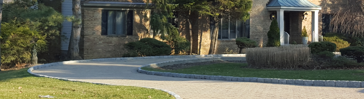paver driveway in Bergen county