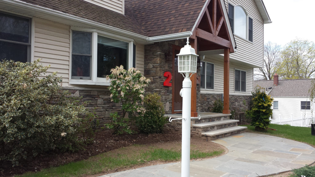 stone walkway, stairs and venere in Bergen County