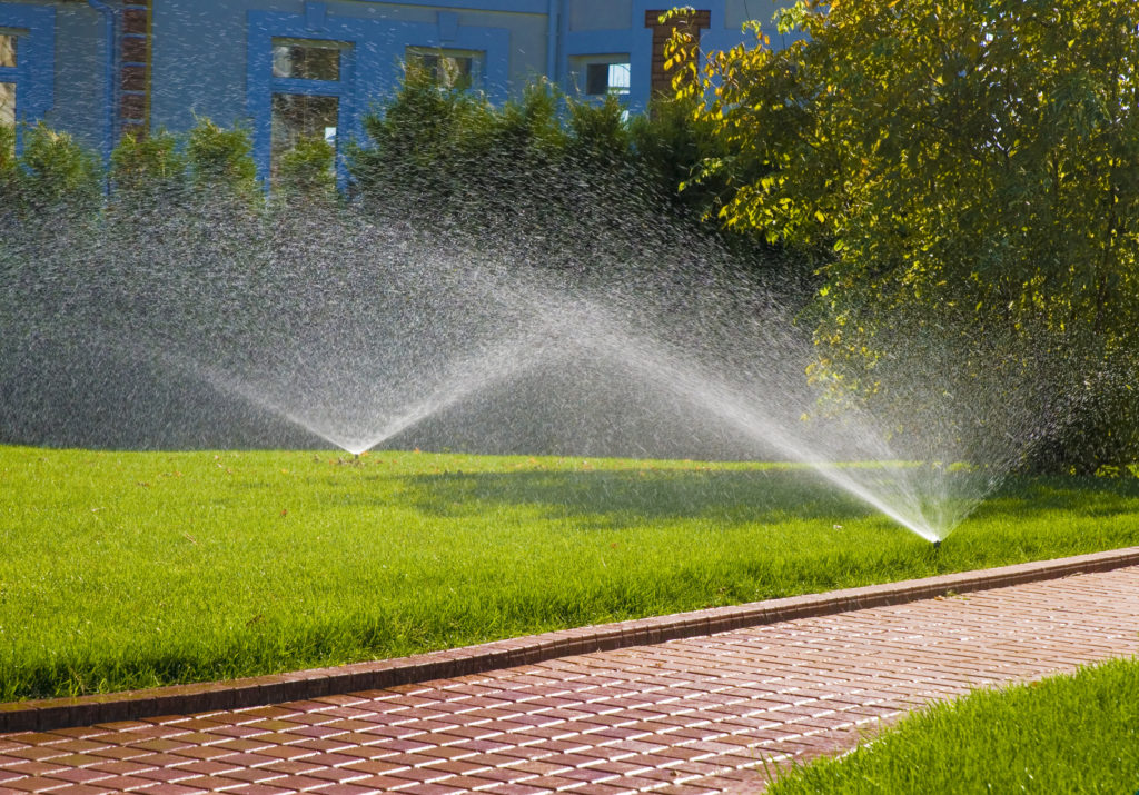 Automatic sprinkler system in Bergen County